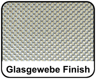 Glasgewebe Finish