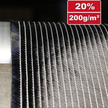 200 g/m² Bidiagonal carbon fabric | SP-B200C