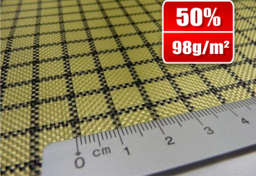 98g/m²  Hybrid Fabric Plain  -  Carbon/Kevlar SP-P100AC