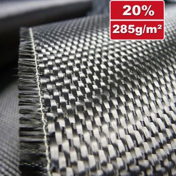 Carbonfiber fabric 285g/m² Satin 1/4 | SP-S285/120CE