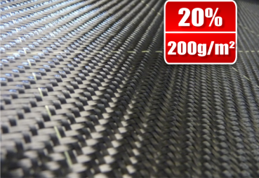 200g/m² Carbon Fabric Twill with tracer SP-T200/127C