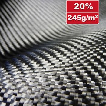 245g/m² Carbon Fabric, non-slip, Twill | SP-T240/150CE
