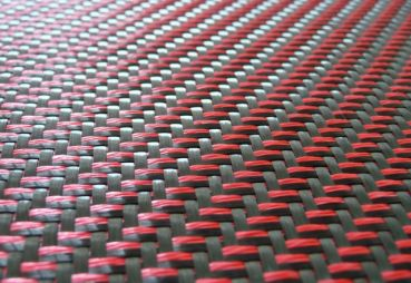 "405 g/m² Designed Carbon Fabric ""red magic carbon"" 