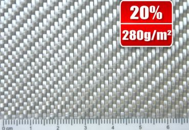 280g/m² Glass filament fabric Finish Twill   SP-T280/127EF