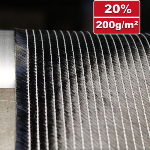 200 g/m² Bidiagonal carbon fabric | HP-B200C
