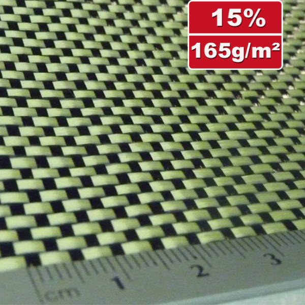 165g/m²  Hybrid Fabric Plain  -  Carbon/Kevlar  HP-P167AC