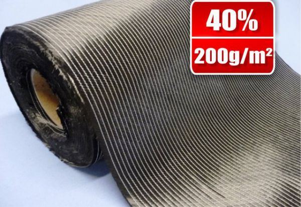 40cm - 200g/m² Bidiagonal carbon fabric Tape SP-B200/40C