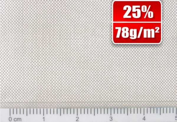 78g/m² Glasfilamentgewebe Finish Leinwand   SP-P78/127EF