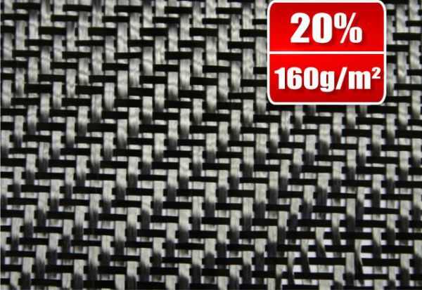 Carbon fabric 160g/m²