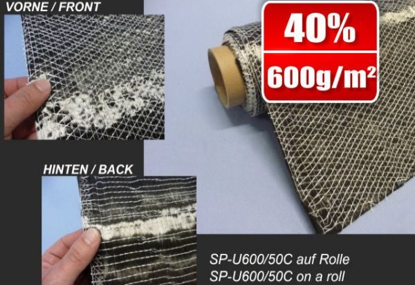 600g/m² Unidirectional-Carbon Fabric SP-U600/50C